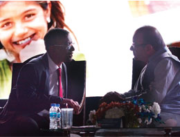 CEO, MD & Founder of Bandhan Bank Chandra Shekhar Ghosh and Union Finance Minister Arun Jaitley