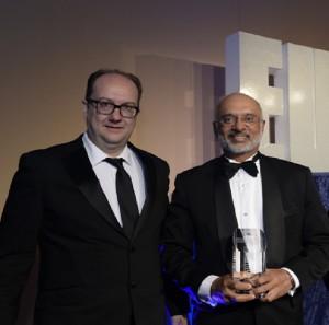 DBS CEO Piyush Gupta receives Euromoney's World's Best Digital Bank award in London
