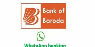Bank of Baroda WhatsApp banking