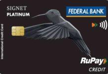 Federal Bank Signet RuPay Credit Card